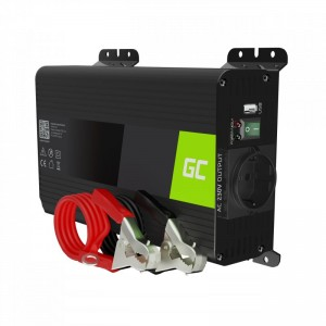 Green cell pro car power inverter converter 12v to 230v 300w/600w pure sine
