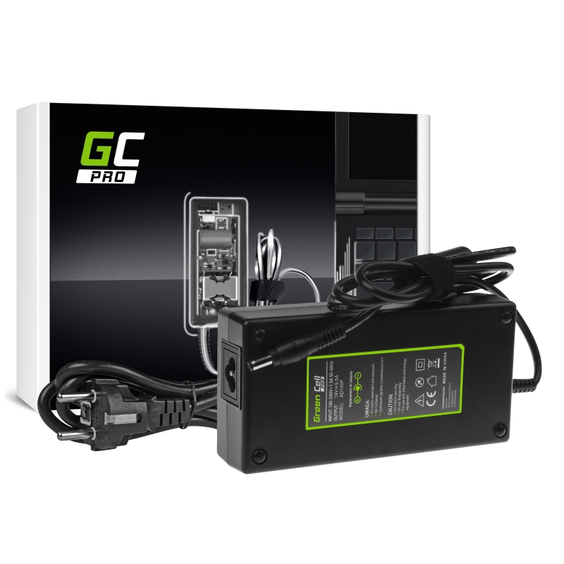 Charger / ac adapter green cell pro 19v 9.5a 180w for msi gt60 gt70 gt680 gt683 asus rog g75 g75v g75vw g750jm g750js