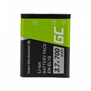 Green cell ® battery en-el10 for nikon coolpix s60, s80, s200, s210, s220, s500, s520, s3000 3.7v 700mah