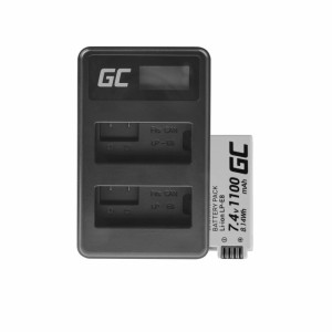 Green cell ® battery lp-e8 and charger lc-e6 for canon powershot g15 g16 g1x g3x sx40 hs sx40hs sx50 hs sx60 hs 7.4v 800mah