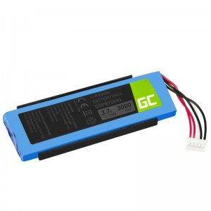 Battery gsp872693 green cell for speaker jbl flip 3 iii, 3000mah